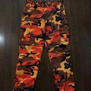 Pants - LARGE SIZE CARGO CAMOUFLAGE PANTS